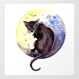 All Hallow's Moon Art Print