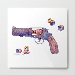 Russian Roulette Pun Metal Print