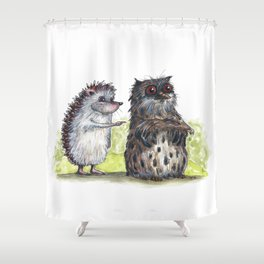 Hedgehog's here Shower Curtain