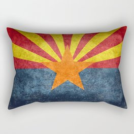 State flag of Arizona, the 48th state Rectangular Pillow