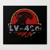 lv Canvas Prints featuring LV-426 by Crumblin' Cookie
