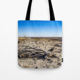 Uprooted Ocotillo Plant in the Middle of Dust and Rocks in the Anza Borrego Desert, California Tote Bag