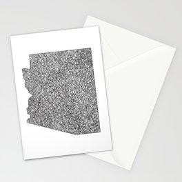 Arizona Map Stationery Cards