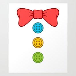 Clown Bow Tie Buttons Art Print