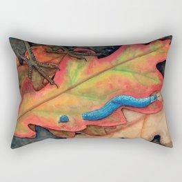 Blue-Grey Taildropper Slug on the Move Rectangular Pillow