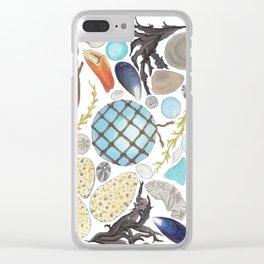 Coastal Treasures Clear iPhone Case