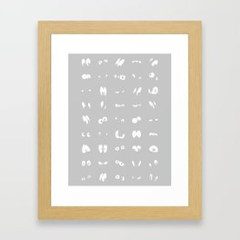 The Eyes Have It (grey) Framed Art Print