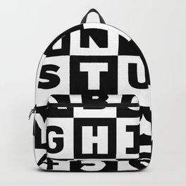 Alphabet Black and White Backpack