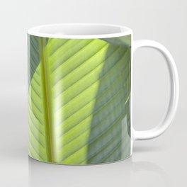 Green Tropical Leaves: Sunlight and Shadows Coffee Mug