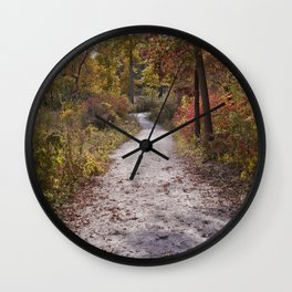 Fall and North DuPage Woods Trail Wall Clock