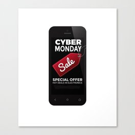 Cyber Monday Sale Canvas Print