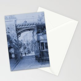 Tram 40 in blue Stationery Cards
