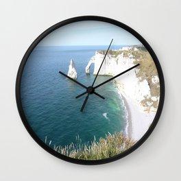 Cliffs at Etretat Wall Clock