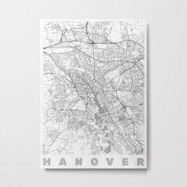 Hanover Map Line Metal Print