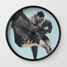 The Rushing Fog Wall Clock