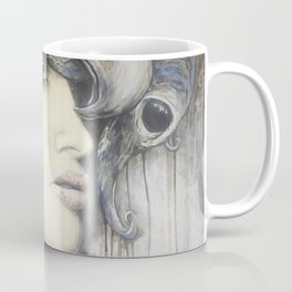 Waiting in the Wings // Woman Portrait Painting Goddess Masquerade Magic Feminine Star Mask Mystery Coffee Mug