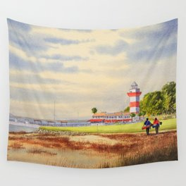 Harbor Town Golf Course SC Wall Tapestry
