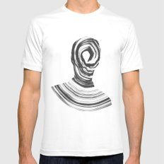 Disconnect LARGE White Mens Fitted Tee