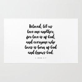 1 John 4:7 - Bible Verse Rug