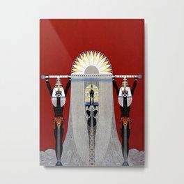 """The Egyptian"" Art Deco Illustration Metal Print"