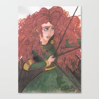 merida Canvas Prints featuring Merida by carotoki art and love