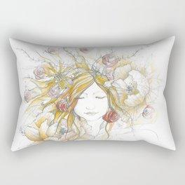 Autumn Poppy Fairy Rectangular Pillow