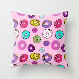 Donuts Dreams Throw Pillow
