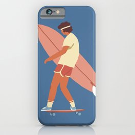 Surf poster iPhone Case