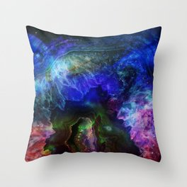 Space crystal Throw Pillow