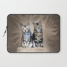 The Glare of the Silver Meowbles  Laptop Sleeve