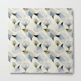 Retro Cotton Pattern Metal Print