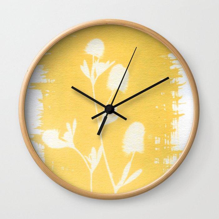 Herbal Sunprint #6 Wall Clock