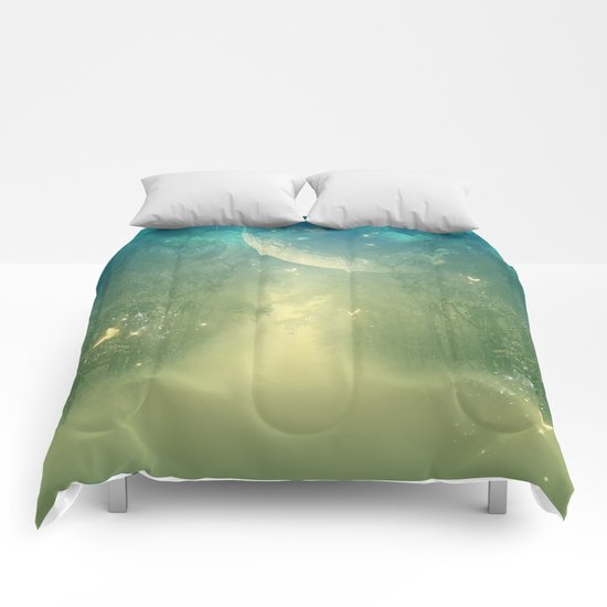 Mystical forest Comforters