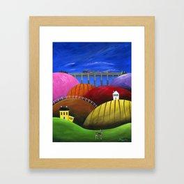 Hilly Hello Framed Art Print