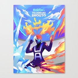 Todoroki Shouto Poster Design - Skizorr Canvas Print