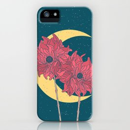 Midnight Flowers iPhone Case