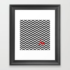 Black Lodge Dreams (Blood On The Red Room Floor) Framed Art Print