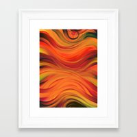 fabric Framed Art Prints featuring fabric by Cool-Sketch-Len