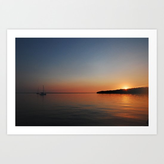 Bahamian Sunset Art Print