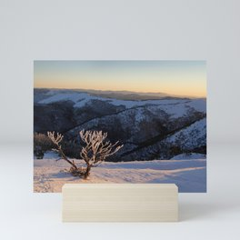 Snow on the Mountainside Mini Art Print