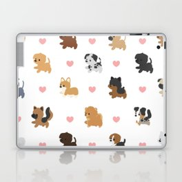 Dog Breeds with Hearts Laptop & iPad Skin