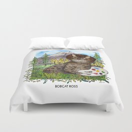 Bobcat Ross Duvet Cover