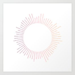 Collective Nouns (Sunrise) Art Print