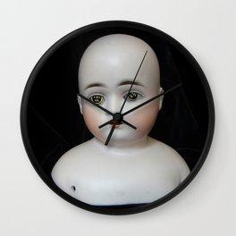 Typewriter Key Creepy Mentalembellisher Doll Wall Clock