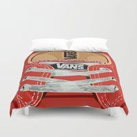 vans Duvet Covers featuring Cute red Vans all star baby shoes apple iPhone 4 4s 5 5s 5c, ipod, ipad, pillow case and tshirt by Three Second