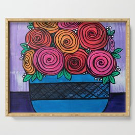Bowl of Roses Serving Tray