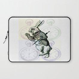 White Rabbit Time Laptop Sleeve