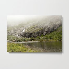 a misty lake in Norway  | nature photo | fine art photo print | travel photography Metal Print