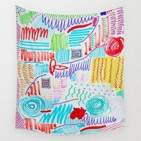 doodle Wall Tapestries featuring DOODLE by austeja saffron