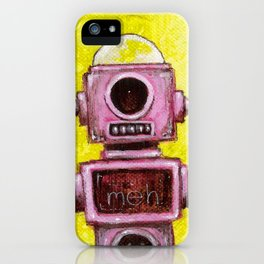 Meh Bot iPhone Case